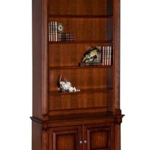 Reeded Columns Bookcase with 2- Doors
