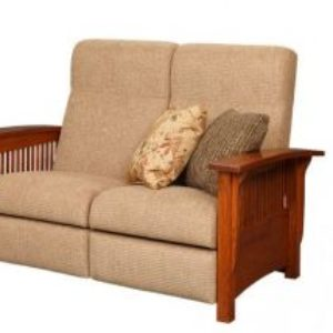 Classic Mission Recliner Loveseat
