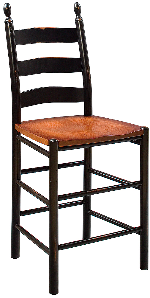 Shaker Ladder Back Counter Chair Martin S Furniture