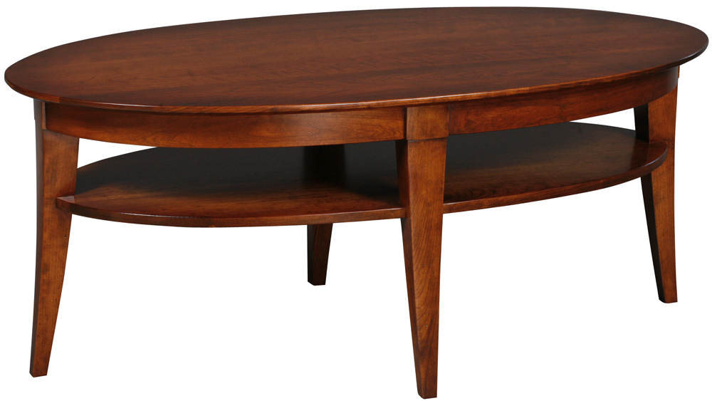 Oval Coffee Table With Shelf.Stratos Large Oval Coffee Table