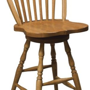 Arrowback Swivel Barstool
