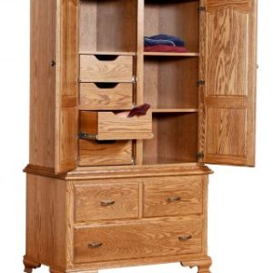 Traditional Large Armoire Interior Layout