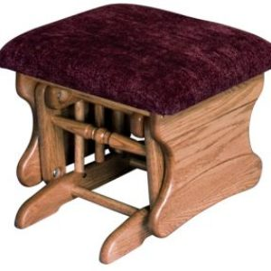 Glider Ottoman with Upholstered Top