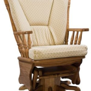 Four Post Swivel Base Glider with Upholstered Cushion