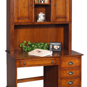 Nobel Estate Student Desk, Solid Side Panels, with 2- Door Hutch Top