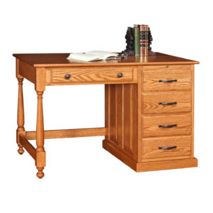 Traditional Student Desk with Side Panels Raised