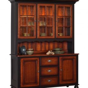 Madison Manor 3- Door Hutch with Scallop Accent
