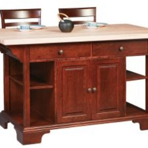 Bass Harbor Island with Butcher Block Top
