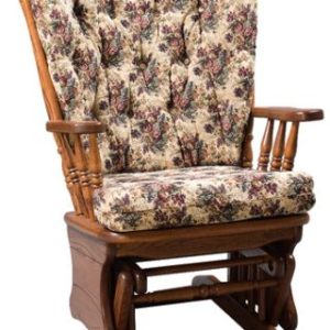 Four Post Highback Glider with Upholstered Cushion