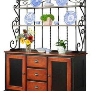 Iron Bakers Rack with buffet