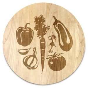 Farmers Market Round Serving Board