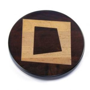 "Artisan Woods Abstract Square 16"" Lazy Susan"