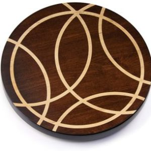 "Artisan Woods Intersecting Lines 16"" Lazy Susan"