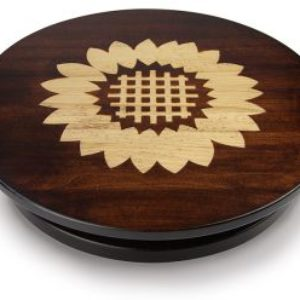 "Artisan Woods Sunflower 16"" Lazy Susan"