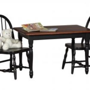 Child's Rectangle Table & Bowback Chair Set