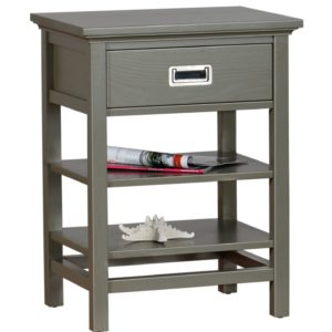 Wainscot Nightstand One Drawer w/Lower Shelves