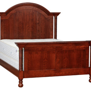 Corinthian Arched Panel Bed w/Rope Twist