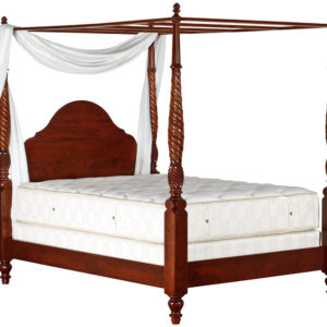 British Plantation Poster Bed w/Canopy Frame