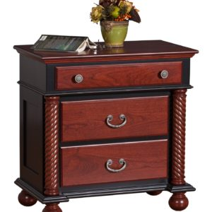 Corinthian Nightstand Three Drawer