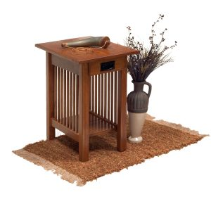 Square Slat Mission Chair Side End Table