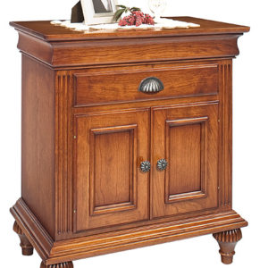 Noble Estate Nightstand One Drawer & Two Doors