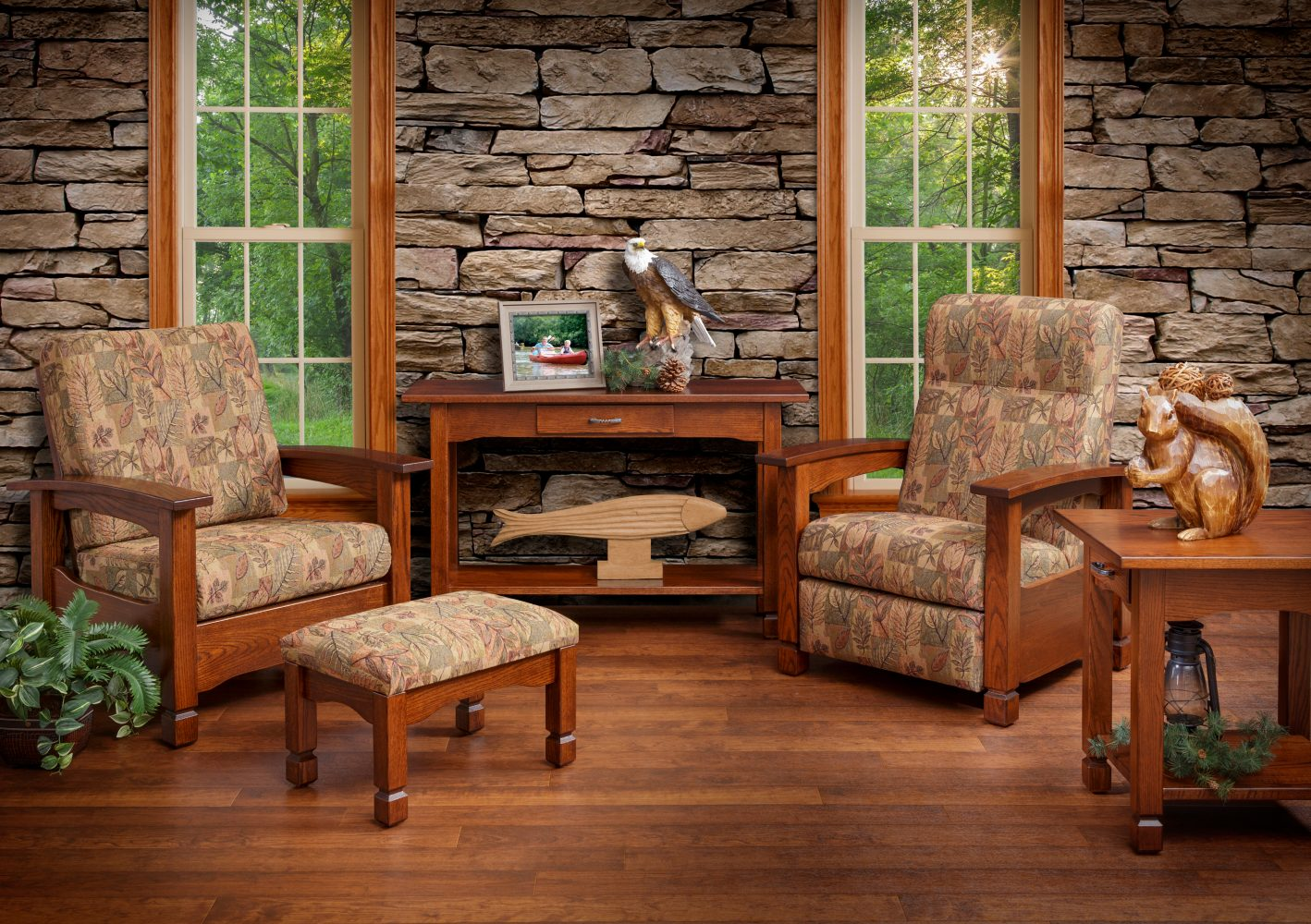 rustic country chair furniture amish recliner brook mission morris room twin pa oak match living lancaster martin county market cockeysville