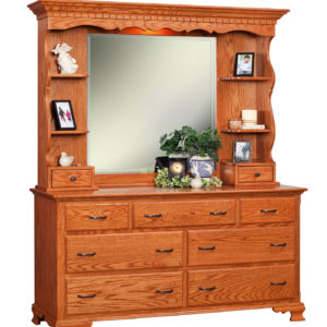 Traditional Double Dresser w/ Hutch Top
