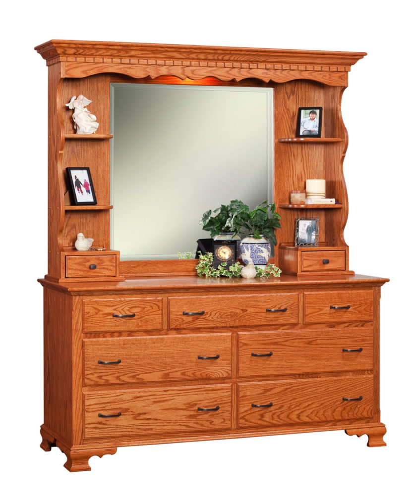 Traditional Double Dresser W Hutch Top Martins Furniture