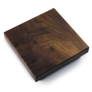 Large Square Bar Cutting Block w/ Bunn Feet - Walnut