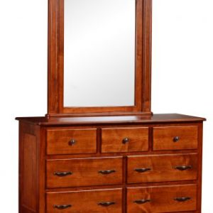 Madison Manor Single Dresser with Arched Mirror