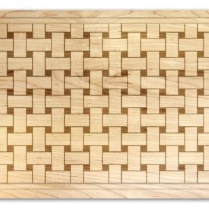 "Basket Weave 14"" x 20"" Carve & Serve Tray w/ Handles"