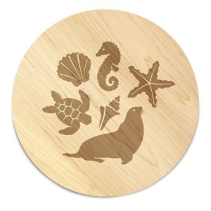 "Coastal Reef 12"" Cheese Board"