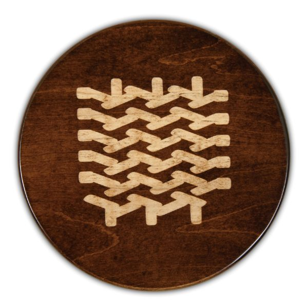 "Chevron Knit Round Serving Board - Tobacco Brown (16""D x 3/4""H)"
