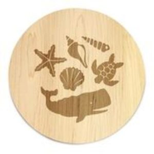 "Maple Coastal Reef 16"" Lazy Susan"