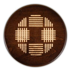 "Coco Weave Round Serving Board - Tobacco Brown (16""D x 3/4""H)"