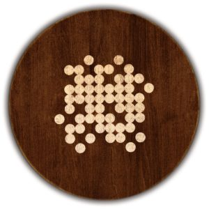 "Effervescence Round Serving Board - Tobacco Brown (16""D x 3/4""H)"