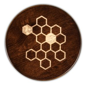 "Honeycomb Round Serving Board - Tobacco Brown (16""D x 3/4""H)"
