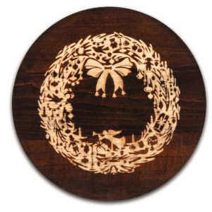 Christmas Wreath Trivet Vintage Collection