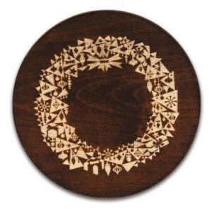 Modern Christmas Wreath Trivet