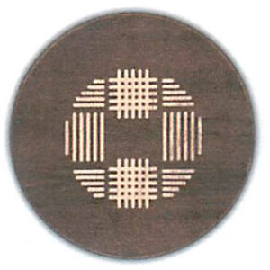 """Coco Weave Round Serving Board - Tobacco Brown (16""""D x 3/4""""H)"""
