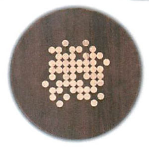 """Effervescence Round Serving Board - Tobacco Brown (16""""D x 3/4""""H)"""