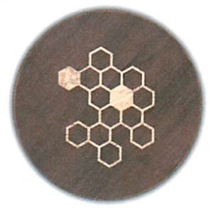 """Honeycomb Round Serving Board - Tobacco Brown (16""""D x 3/4""""H)"""