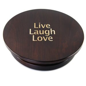 "Personalized Tobacco Brown 20"" Lazy Susan"