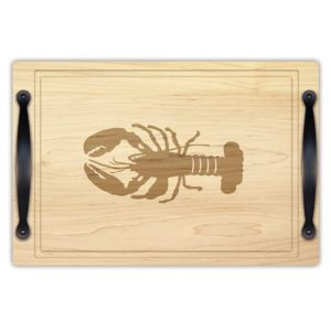 "Coastal Reef Lobster 12"" x 18"" Carving & Serving Tray w/ Handles"