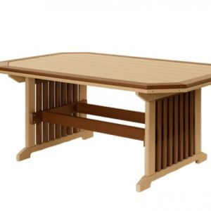 Finch Mission Poly Dining Table w/ Border