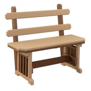 Finch Mission Extra Wide Poly Bench with Back