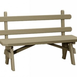 Finch Extra Wide Poly Garden Benches with Back