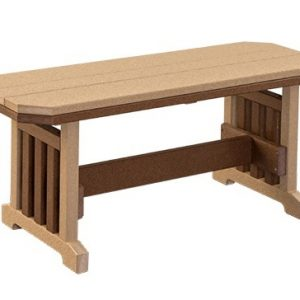 Finch Mission Extra Wide Poly Backless Bench
