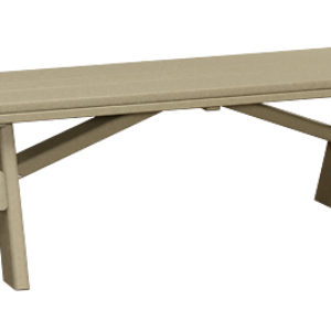 Finch Extra Wide Poly Backless Garden Benches