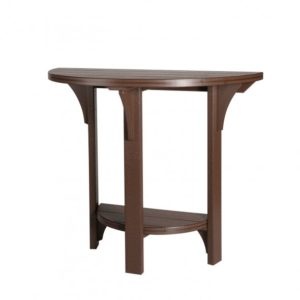 Finch Poly Half Round Table